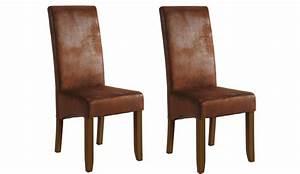 Chaise salle a manger cuir vieilli for Meuble salle À manger avec chaise haut dossier salle a manger