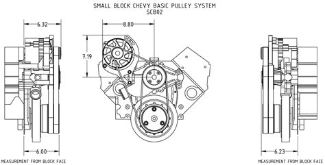 For Small Block Chevy Alternator Wiring Diagram by 350 383 Chevy Serpentine Pulley Kit With Alternator