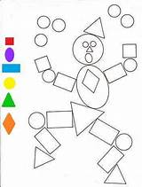 Shapes Coloring Funnycrafts sketch template
