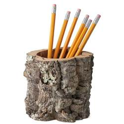bathroom organizers ideas cork bark pencil holder desktop receptacle the green