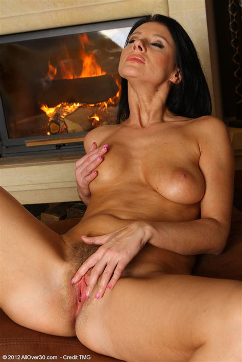 Class Brunette MILF Enza Tease And Strip Naked MILF Fox