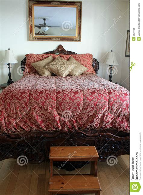 big fancy bed royalty  stock photo image