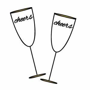 Champagne Glasses Clipart - ClipArt Best