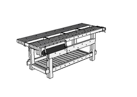 woodwork workbench plans sketchup  plans