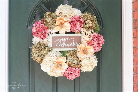 Diy Fall Wreath (with Faux Hydrangeas  Super Easy