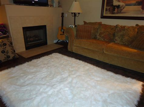 white living room rug white fur living room rug 1604