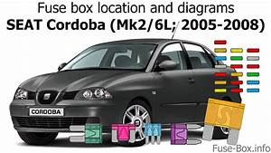Fuse Box Location And Diagrams  Seat Cordoba  2005