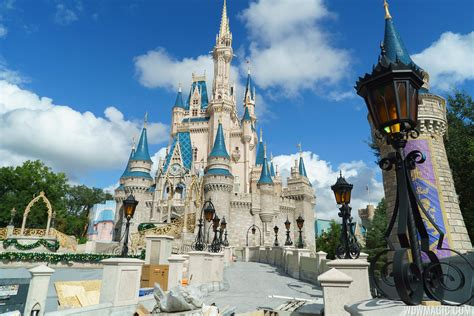 ramps  cinderella castle nears completion