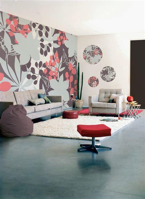 wallpaper dinding bunga merah 65 desain wallpaper dinding ruang tamu minimalis terbaru