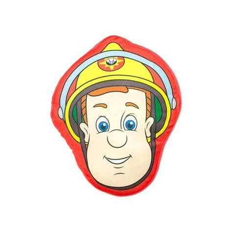 deco chambre bebe disney coussin sam le pompier en forme de tête pour chambre enfant