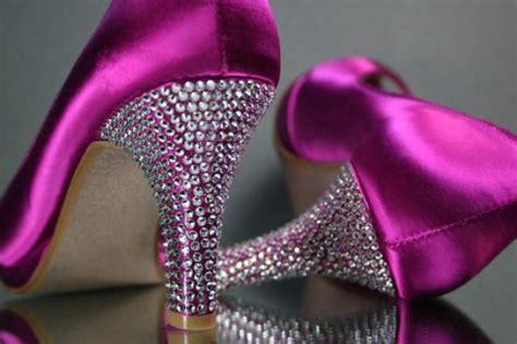 Wedding Shoes -- Fuschia Pink Wedding Peep Toe Shoes With