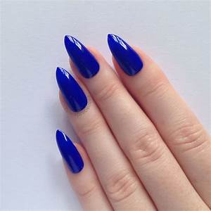 Blue Stiletto Nails Tumblr | www.imgkid.com - The Image ...