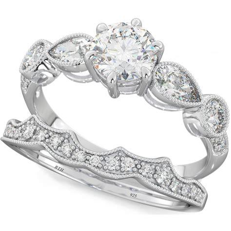 vintage design 925 sterling silver wedding engagement ring