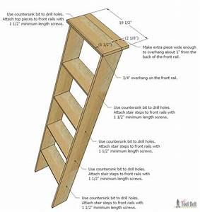 """DIY Decorative """"Vintage"""" Wood Ladder"""
