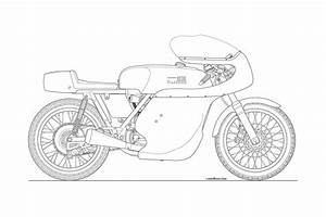 Racing Motorbike Drawing