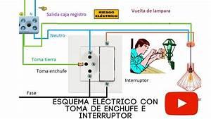 Esquema El U00c9ctrico Con Toma De Enchufe E Interruptor