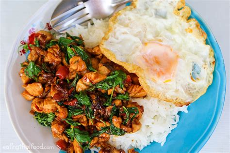 thai chicken recipes authentic thai basil chicken recipe ผ ดกระเพราไก