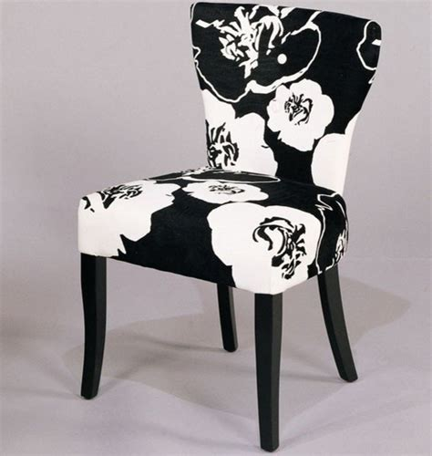 armen living black white floral dining side chair set