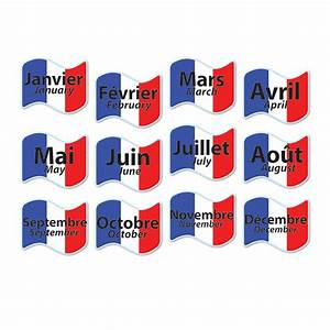 French Months Of The Year Signs Set Of 12