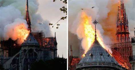 youtube flags notre dame cathedral fire video