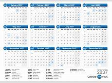 Calendar 2037