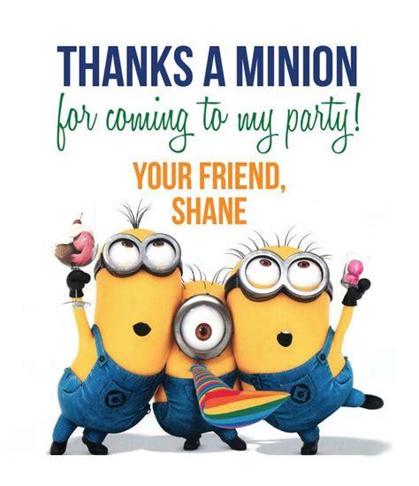 Minions Thank You Tags By Lifeonpurpose On Etsy  Bentley's 1st Birthday!  Pinterest Birthdays