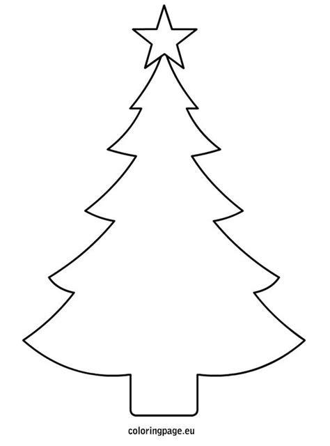 christmas tree template printable pinteres