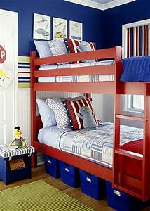 Bedroom Fascinating Red And Blue Bedroom Decoration Using