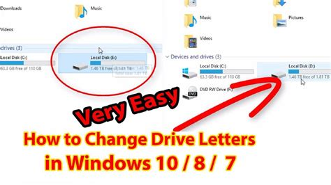 how to change drive letter how to change drive letters in windows 10 8 7 change 33793