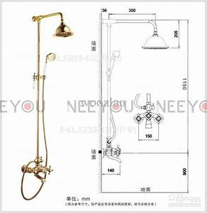 Bathroom Dual Handles Exposed Pure Copper Wall Mount