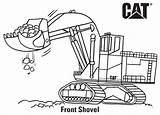 Coloring Caterpillar Excavator Machines Shovel Getcoloringpages Grader Motor Compactor Loader sketch template