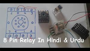 8 Pin Relay Wiring Connection With Base  Socket In Hindi