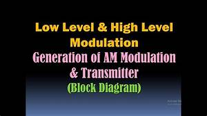 Low Level And High Level Modulation  Generation Of Am