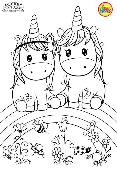 cuties coloring pages  kids  preschool printables slatkice bojanke cute animal