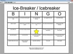 Related keywords suggestions for icebreaker bingo for Ice breaker bingo template