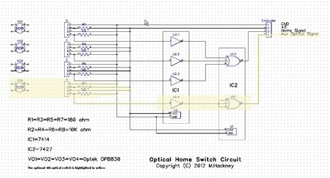 optical home switch circuit design feedback requested