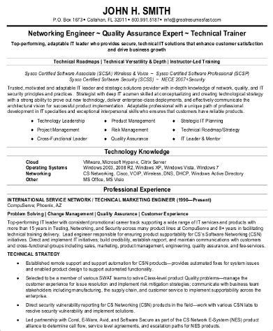 Resume Sles For Network Engineer by Sle Network Engineer Resume 9 Exles In Word Pdf