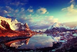 Wallpaper, Sunlight, Landscape, Mountains, Sunset, Sea