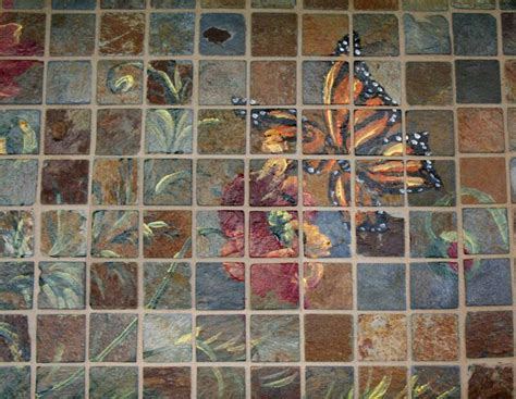 painted mosaic tile murals