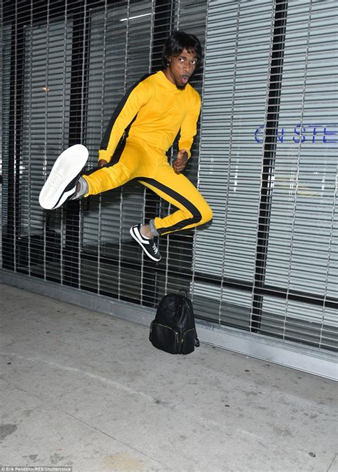 prince yellow jumpsuit heidi klum arrives at annual with five
