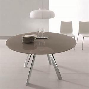 Table Ronde Grise : table ronde verre laqu gris design bontempi casa sur cdc design ~ Teatrodelosmanantiales.com Idées de Décoration