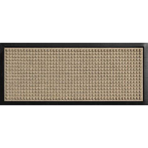 floor mats at home depot bungalow flooring aqua shield boot tray squares khaki 15 in x 36 in pet mat 20447501536 the