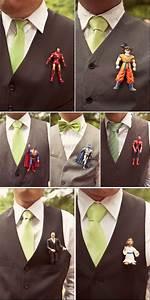 Geek Wedding Idea  Use Superhero Figures As Groomsmen
