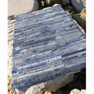 tapis en jean belt bleu carving 140x200 With tapis en jean