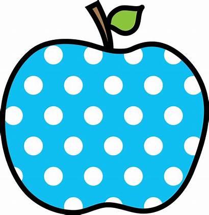 Apple Clipart Dot Polka Apples Transparent Clip