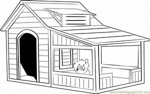 Extra Large Dog House Coloring Page - Free Dog House ...
