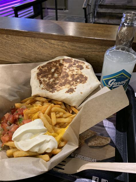 fries loaded pulled pork lemonade taco bell churro finland