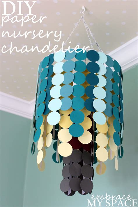 diy paper nursery chandelier project nursery