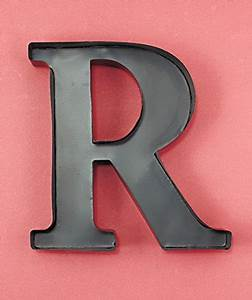 personalized letter quotrquot metal wall wine cork holder With letter r for wall