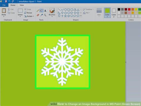 how to change an image background in ms paint green screen